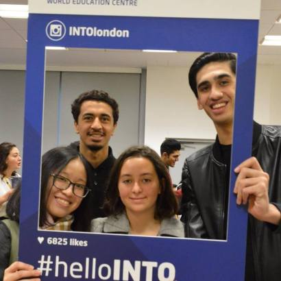 INTO-London-World-Education-Centre-students-during-welcome-week-in-centre