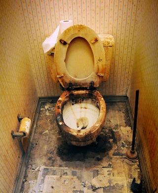 filthy toilet