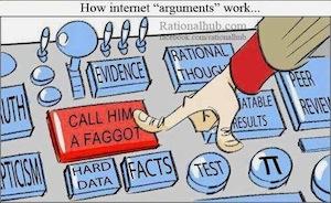 how internet arguments work
