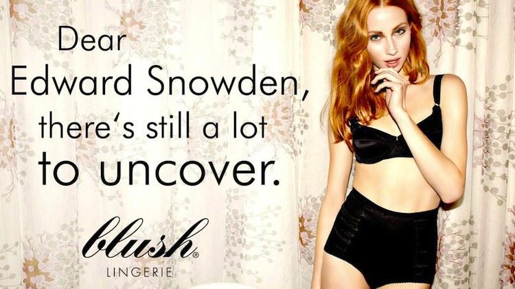 edward snowden lingerie
