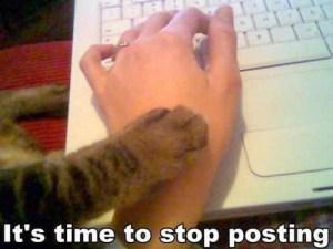 cat paw stop posting