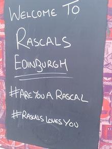 rascals edinburgh like to hashtag