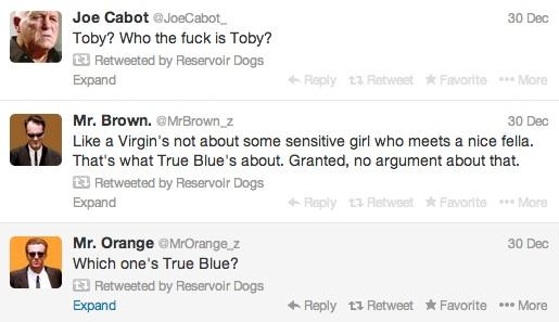 reservoir dogs twitter