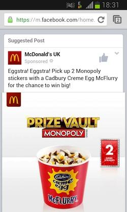 mcdonalds facebook ads