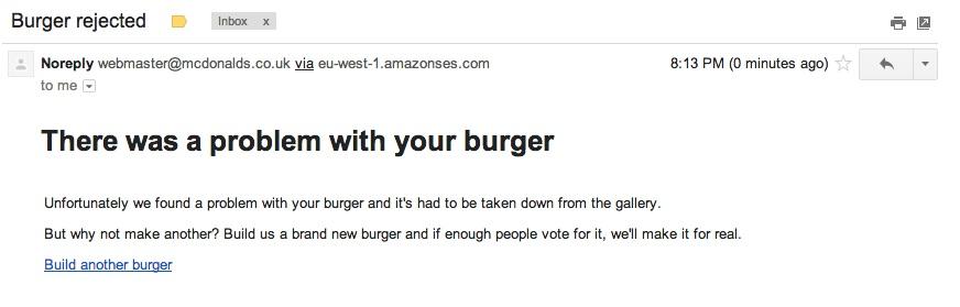 burger rejected