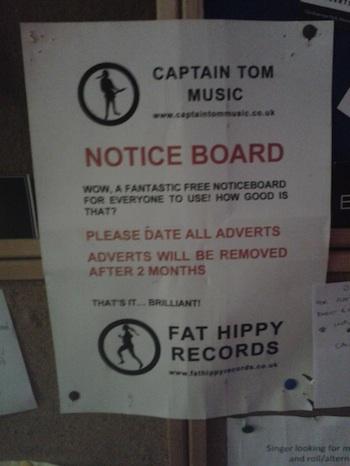 captain toms notice board