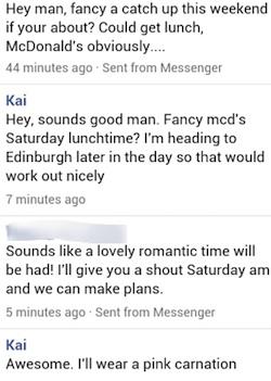 mcdonalds lunch date