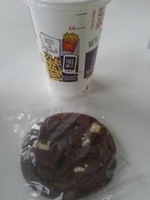 plastic wrapped mcdonalds cookie