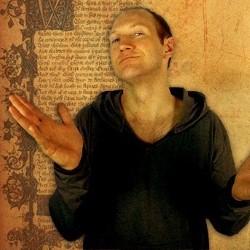 Baba Brinkman performing his 2014 Fringe show Canterbury Tales Remixed
