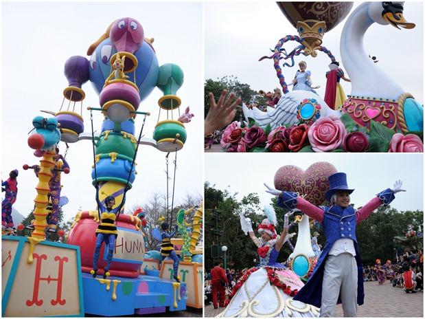 Disneyland parade collage