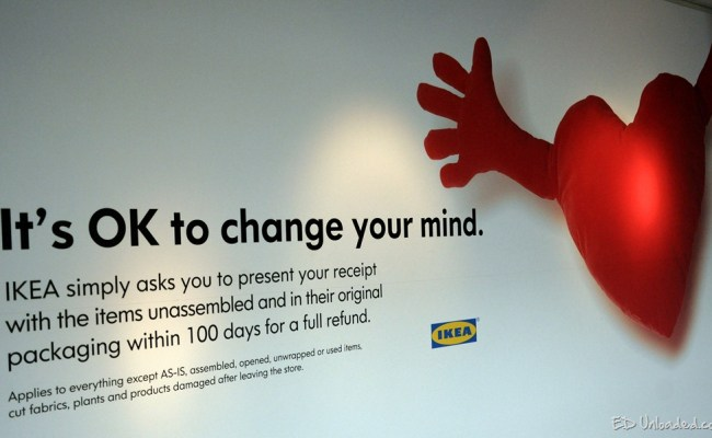 Return Policy Ikea Assembled Furniture Online Information