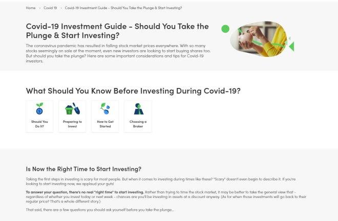 Moneysmary covid19 investment
