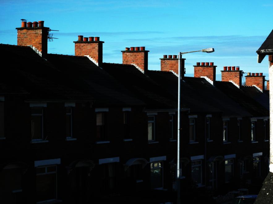 blue sky in Belfast