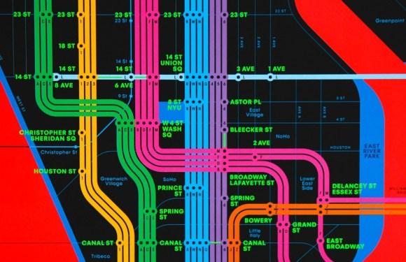 Mapes de metro amb colors espectaculars