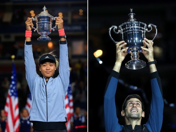 Novak Djokovic e Naomi Osaka triunfantes no US Open