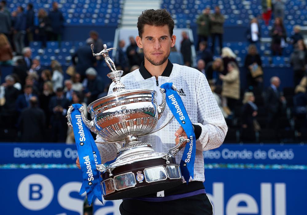 ATP de Barcelona premiou Dominic Thiem e seu estilo 'Mike Tyson'