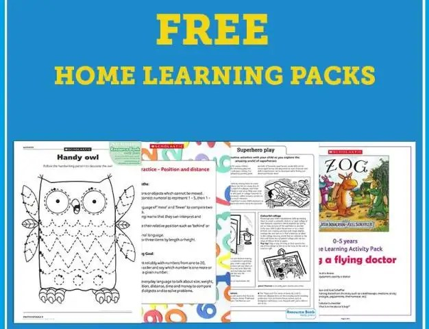 Free home learning pack of educational resources