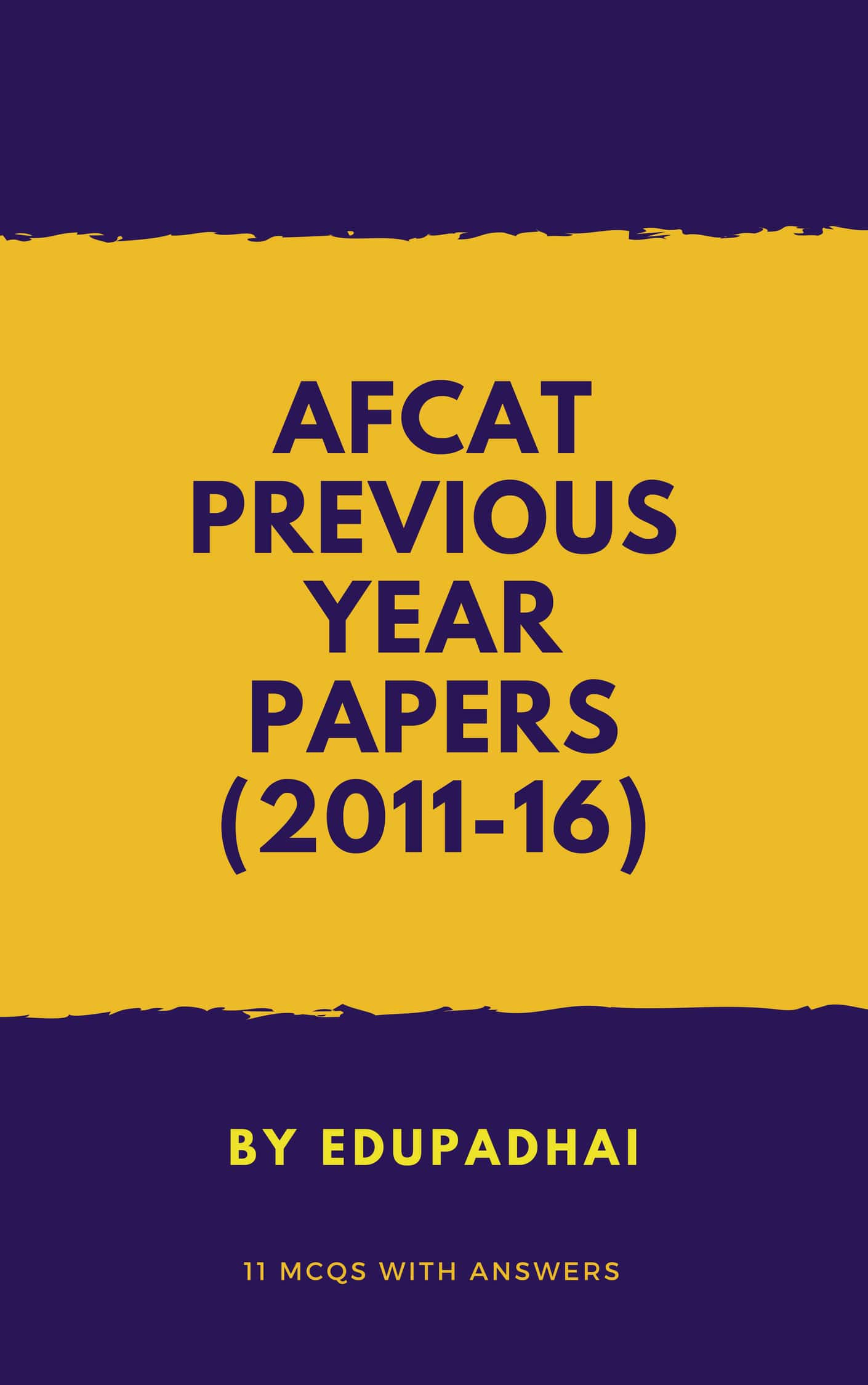 Afcat Exam Papers Pdf