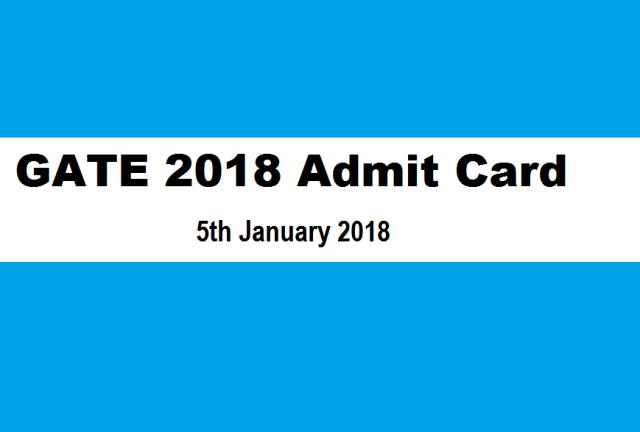 gate 2018 admit card