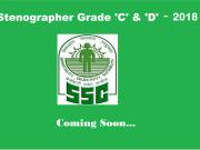 ssc stenographer 2018