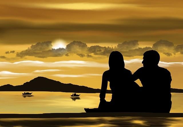 lady and man at sunrise