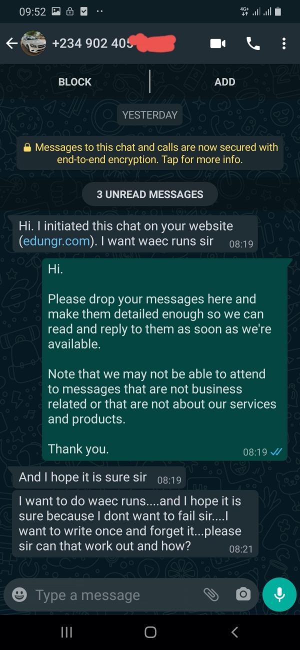 WAEC runs request