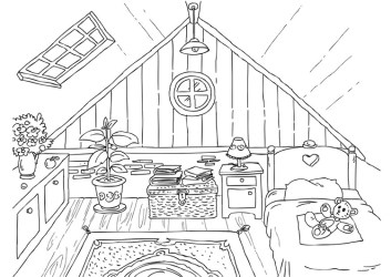 15 The different rooms of a house Coloring Pages 2020 Free Printable Coloring Pages