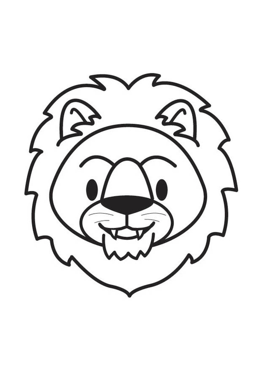 Lion Head Coloring Page : coloring, Coloring, Printable, Pages, 17901
