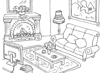 Coloring Page living room free printable coloring pages