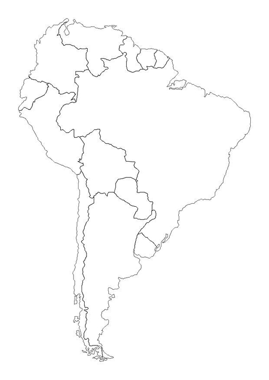 South America Coloring Page : south, america, coloring, Coloring, South, America, Printable, Pages, 10700