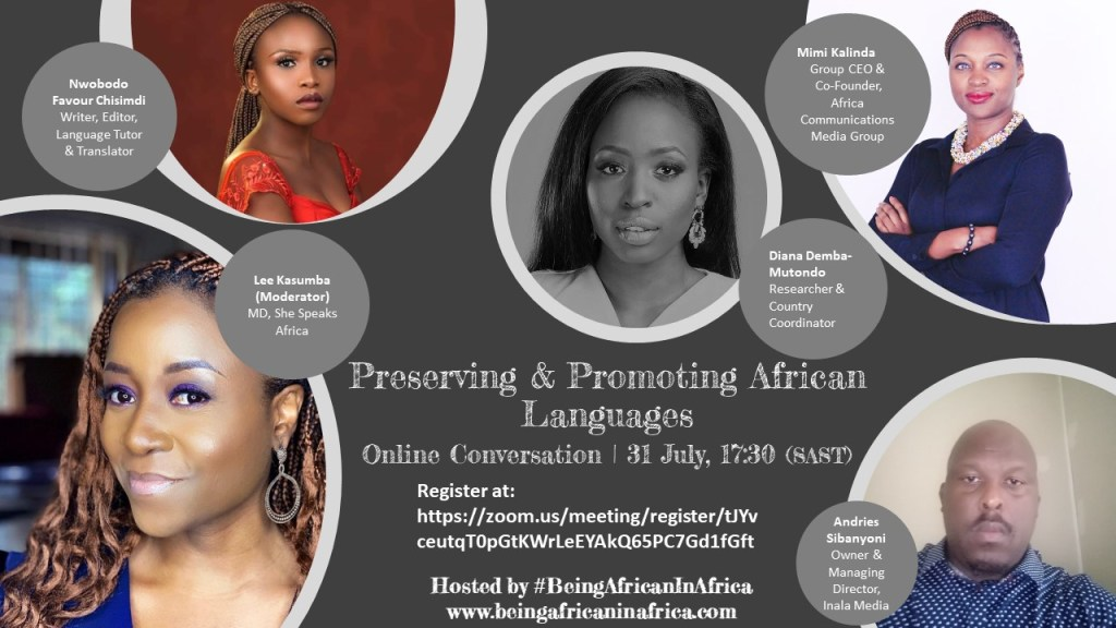 Being African in Africa presents an online discussion on Preserving and Promoting African Languages