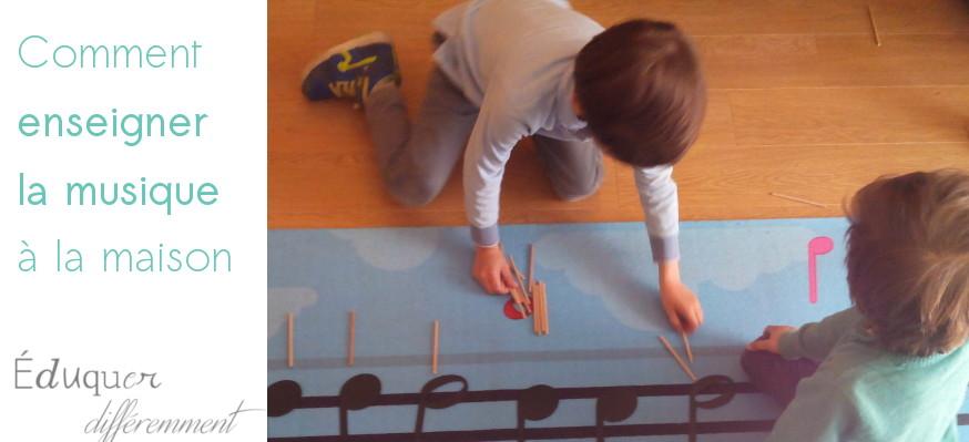 Comment enseigner la musique à la maison