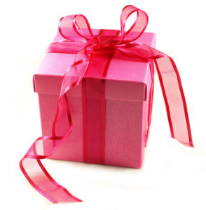 Pink Gift Box with Pink Ribbon Bow