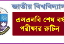 National University LLB Exam Routine 2019