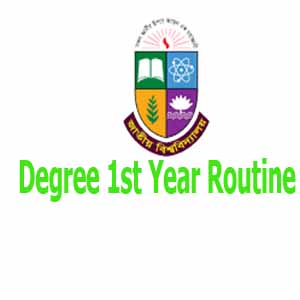 Degree 1st Year Routine 2019