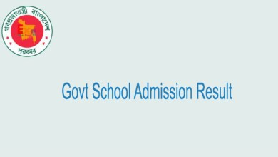 Govt School Admission Result 2020
