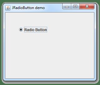 طريقة إضافة JRadioButton في ال JFrame