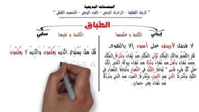 ما هو الطباق في اللغة العربية