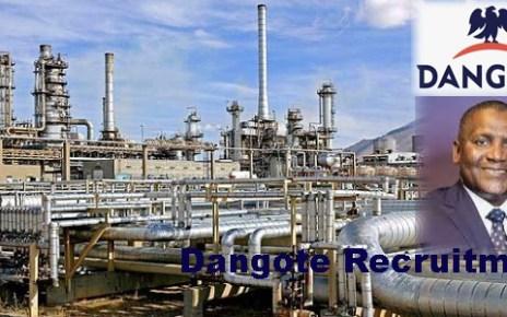 Dangote Petroleum Refinery Recruitment