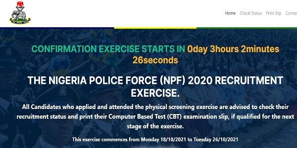 Nigeria Police Recruitment Shortlisted Candidates & Exam Date 2020