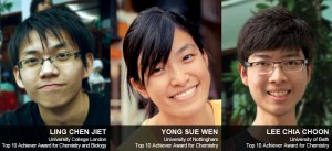 UCSI University's Ling Chen Jiet, Yong Sue Wen and Lee Chia Choon wrote a piece of history for themselves when they bagged Top 10 Achiever Awards in the GCE A-Level June 2012 examinations. By outscoring prodigious students from around the world, the trio effectively proved that Malaysians are more than capable of being the best.