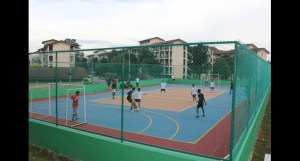 4-in-1 court at Nilai University's 105-acre campus