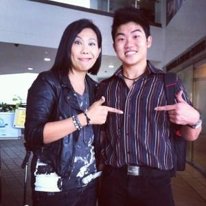 Irene Ang aka Rosie Phua sharing a light moment with John Lai Wai Hong.