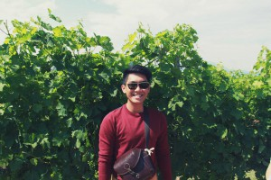 University of Wollongong (UOW) Malaysia KDU culinary arts student, Daniel, during his Field trip to Chianti wine vineyard in Italy. Students can go for a 7-month internship to ALMA, Italy.