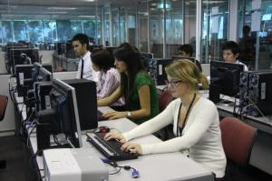 Computer lab at Asia Pacific University (APU)