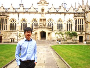 KDU University College's Wong Jin Eu, winner of the Outstanding Cambridge Learner Award, being the Top in Malaysia for History (A-Level) studying History at Oxford University, UK