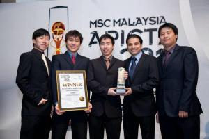 Asia Pacific ICT Award 2012 (APICTA 2012) for the Best of Tertiary Student Winners from APU