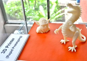 Some of the intricate artwork from the 3D Printer at KBU International College