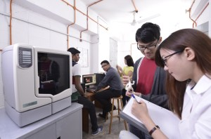 KBU International College design students using the 3D Printer