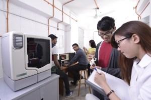 KBU International College  design students using the 3D Printer